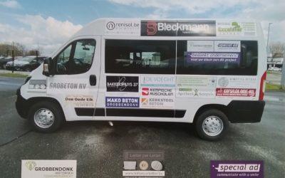 Letter per Letter steunt de nieuwe pendelbus in Grobbondonk