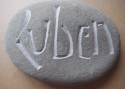 Naamsteen Ruben 2016, vrij werk